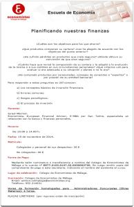 141119 Jornada planificando finanzas Colegio Economistas Málaga